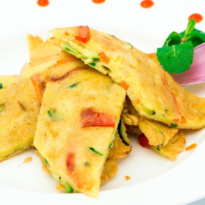 Crèpe coréenne aux légumes