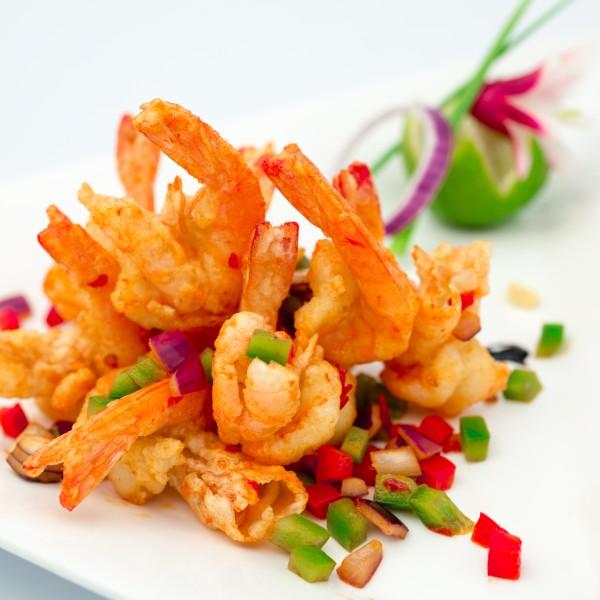 Crevettes au sel et poivre