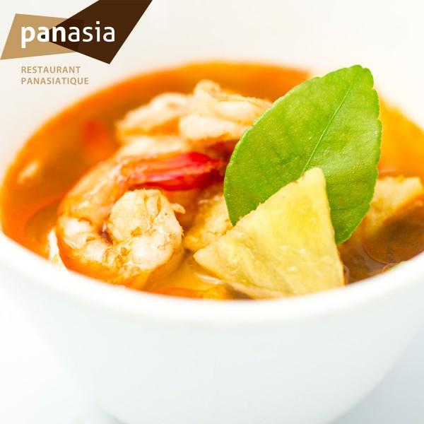 Soupe Tomyam Thaï aux crevettes