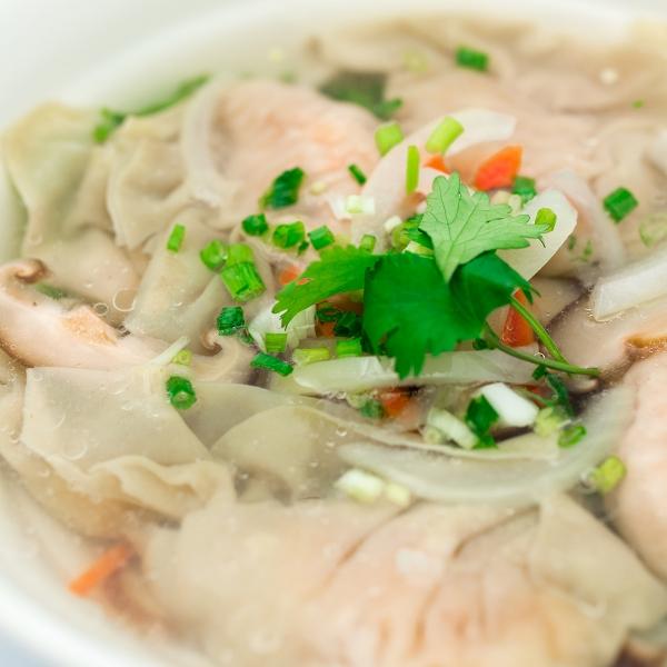 Soupe de Raviolis aux crevettes