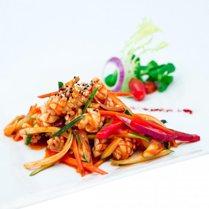 Calamars à la coréenne à la purée de piment