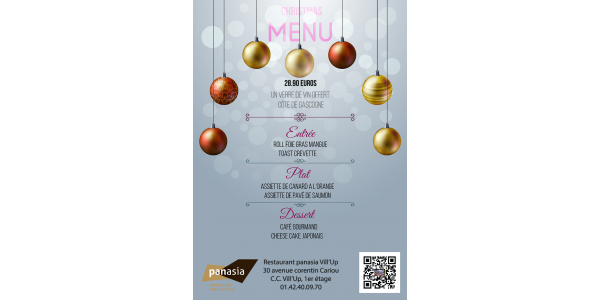 christmas menu panasia vill'up