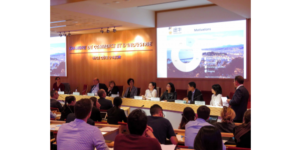 conference on the development of Chinese tourism on the French Riviera at CCI Nice Côte d'Azur