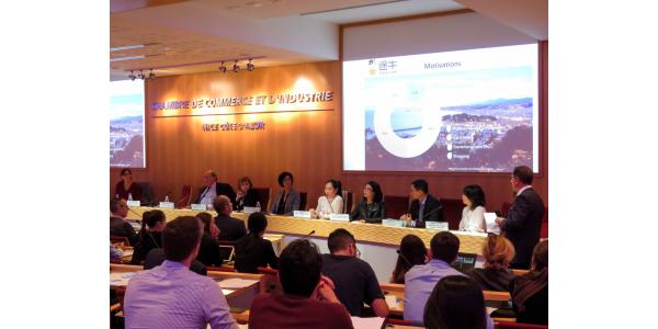 Panasia participe conférence sur le développement du tourisme chinois sur la côte d'azur au CCI