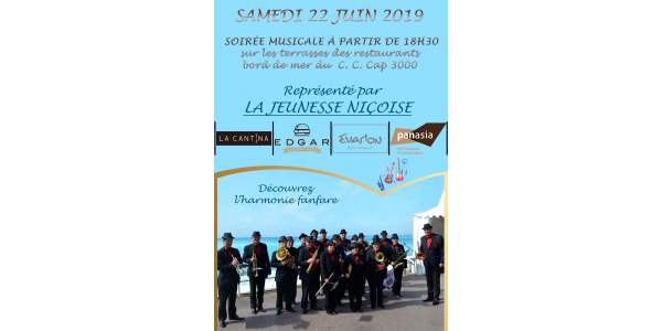 harmony fanfare the Niçoise Youth 22 June 2019