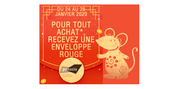 Panasia offers you a red envelope for the Lunar New Year 2020